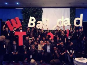 A group of TEDxBaghdad volunteers